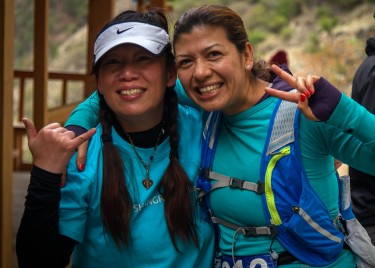 Jenny and Bertha at Shangri-La Marathon